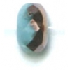 Fire polished 7mm Donuts Light turquoise Moonshine Stripe/half Capri St